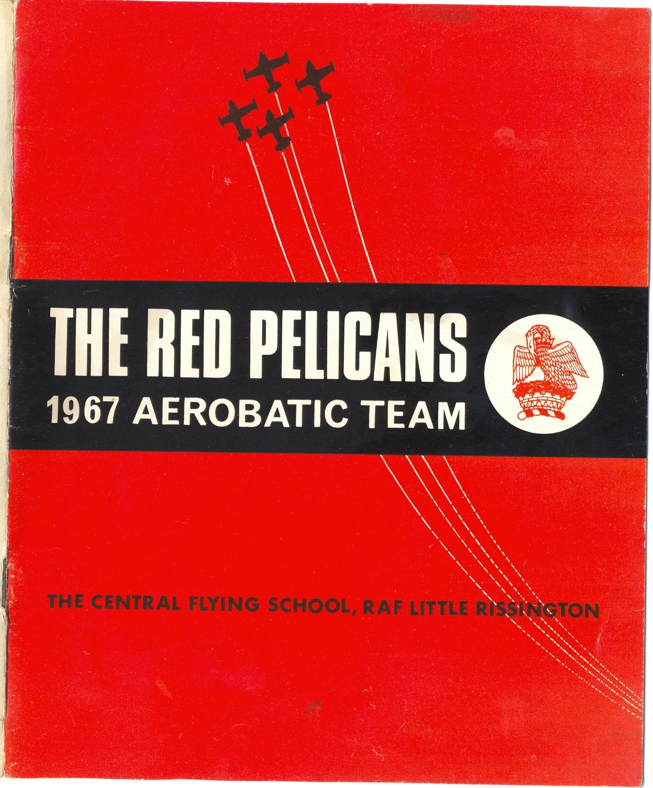 Red Pelican 1967 front cover of the brochure