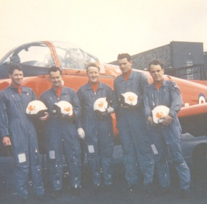 Red Pelican ground crew team. That's me on the right.