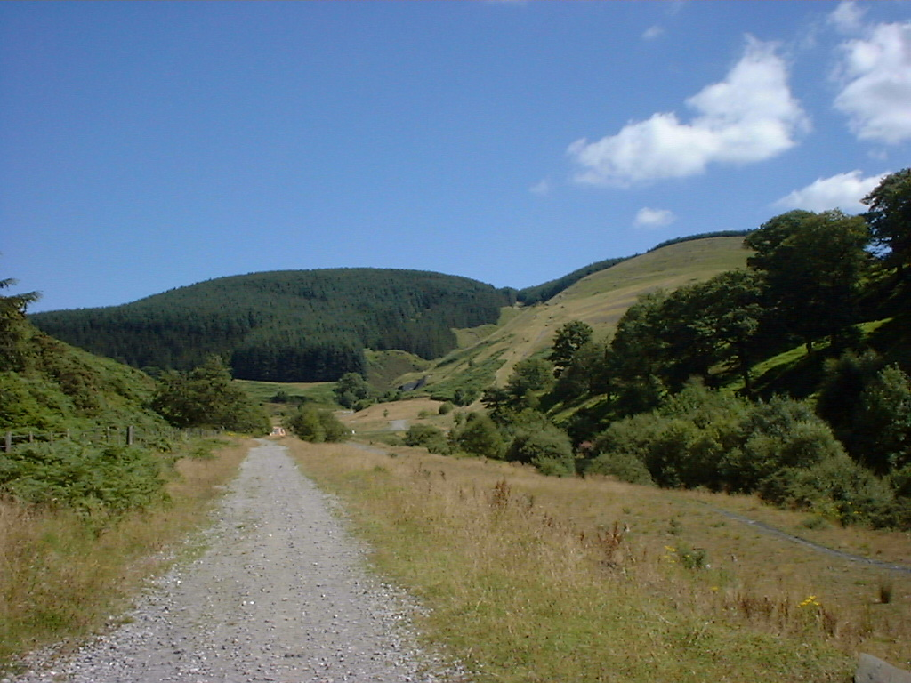 Up to where South Pit was. Around the bend was North Rhondda