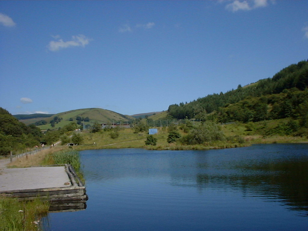 The ponds looking up to Glyncorrwg